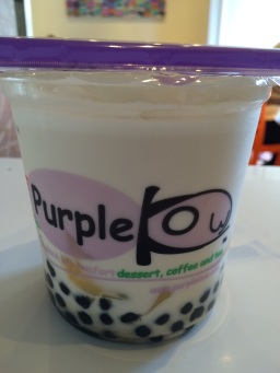 My favorite drink at this boba shop called Purple Kow.