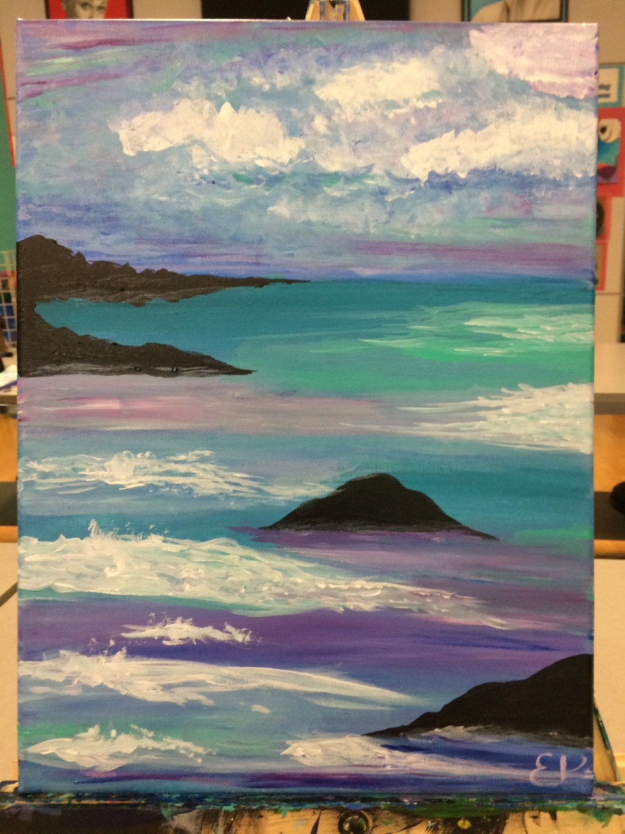 My Ninth Painting Class: The California Coast