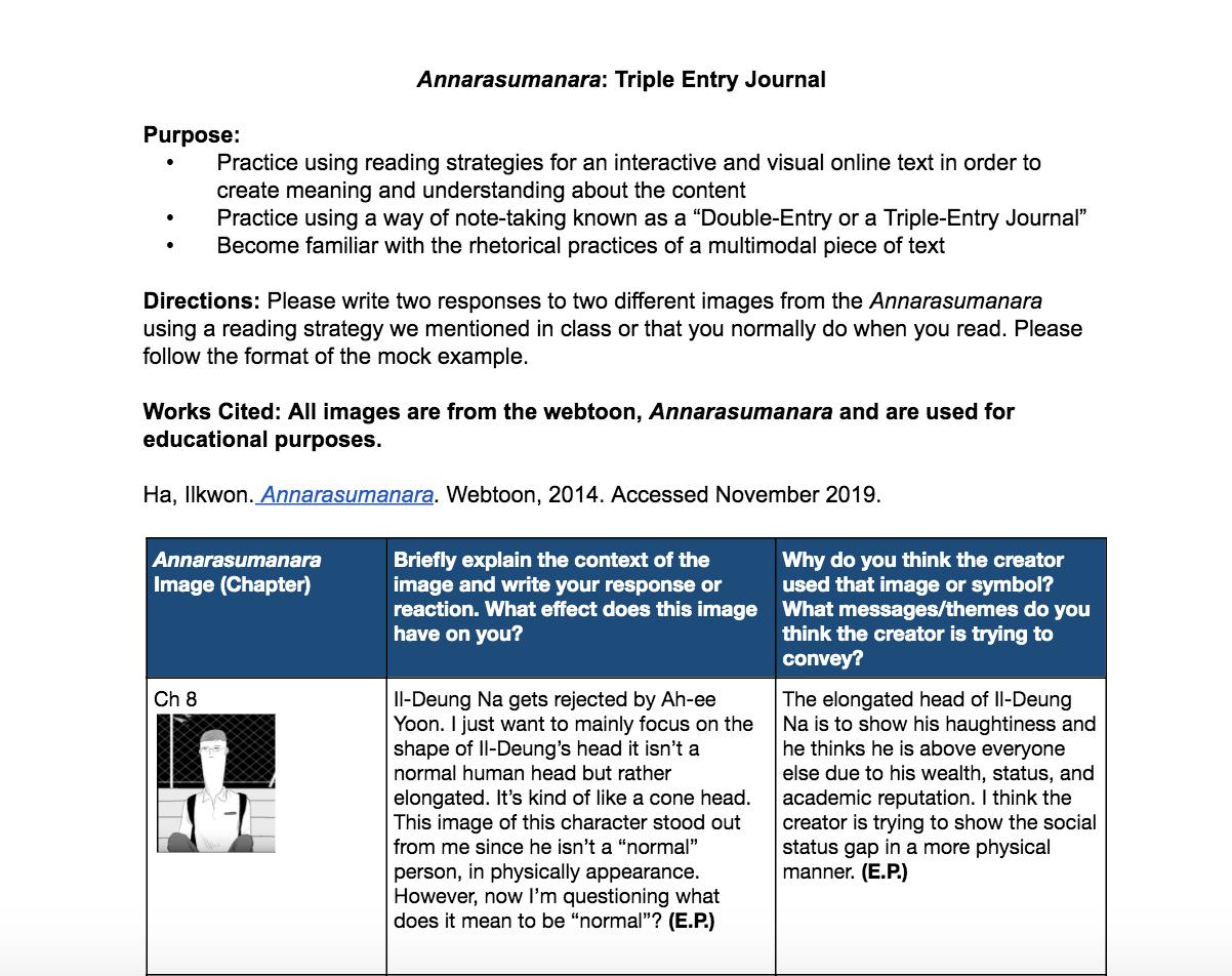 Triple Entry Journal 1